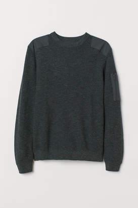 H&M Waffle-knit Sweater - Green