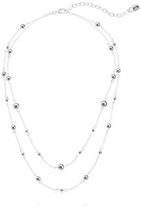 Chaps Women's Double Strand Bead Strand Necklace