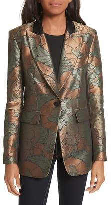 Veronica Beard Vera Metallic Jacquard Jacket