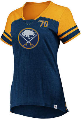 Majestic Women Buffalo Sabres Hyper V Neck T-Shirt