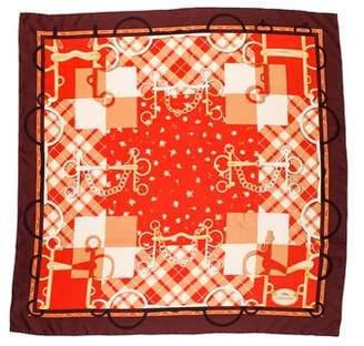Longchamp Printed Silk Scarf