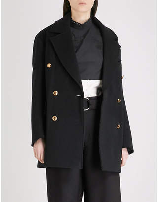 Mo&Co. Double-breasted wool-blend coat