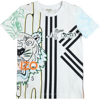 Tiger Printed Cotton Jersey T-Shirt $75 thestylecure.com