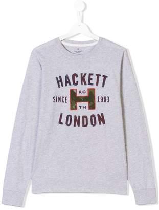 Hackett Kids TEEN logo print top