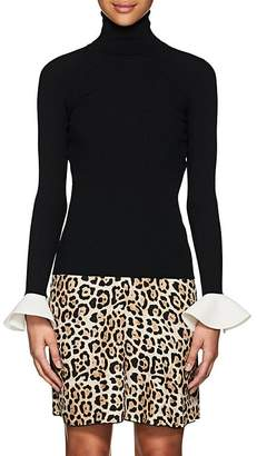 Valentino Women's Bell-Cuff Rib-Knit Top