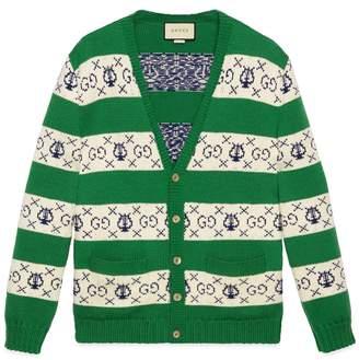 Gucci GG lyre striped jacquard cardigan