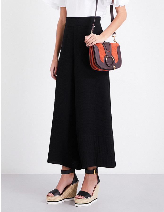 See By ChloeSee By Chloe Wide-leg textured trousers