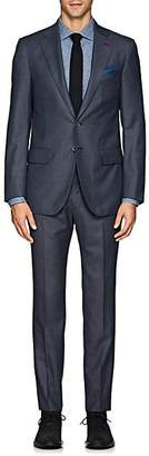 Isaia Men's Sanita Nailhead Wool Two-Button Suit - Blue