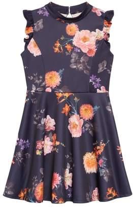 Ava & Yelly Floral Print Sleeveless Dress
