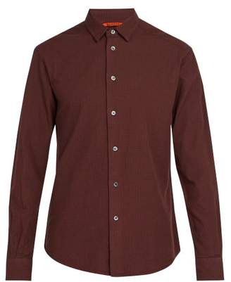 Barena Venezia - Coppi Checked Cotton Flannel Shirt - Mens - Burgundy