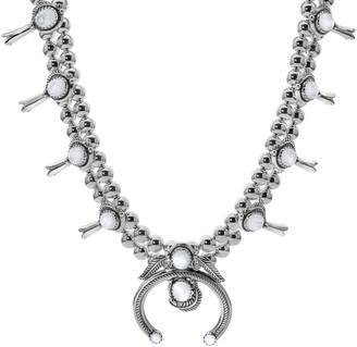 American West Sterling Silver Bold Squash Blossom Necklace