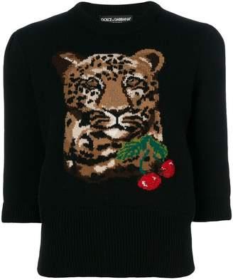 Dolce & Gabbana cherry tiger sweater