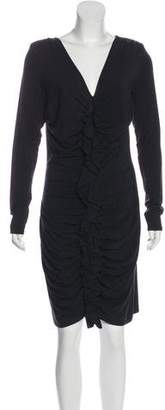 Magaschoni Ruched Structured Dress