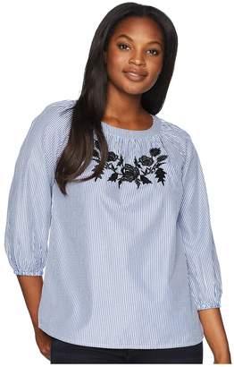 Jones New York Embroidered Shirt Women's Clothing