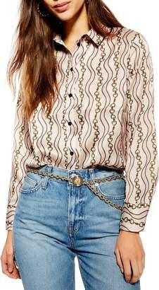 Topshop Chain Print Shirt