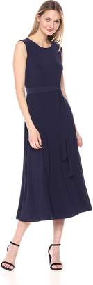Chaus Women's Cap SLV Tie Waist Maxi Dress