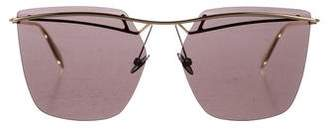 Alexander McQueen Tinted Rimless Sunglasses