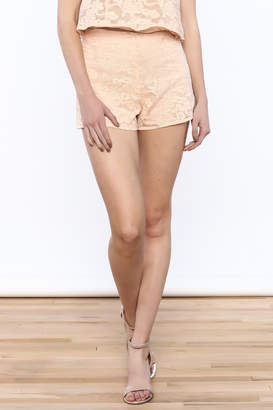 Do & Be Peach Lace Short