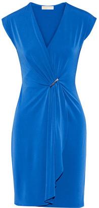 MICHAEL Michael Kors - Draped Wrap-effect Stretch-jersey Dress - Cobalt blue $120 thestylecure.com