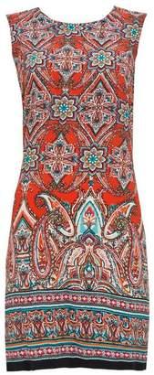 Wallis Orange Tile Print Shift Dress