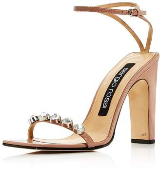 Sergio Rossi Women's Embellished Leather High-Heel Sandals