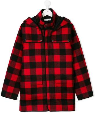 Stella McCartney plaid duffle coat