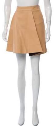 3.1 Phillip Lim Leather Mini Skirt Beige Leather Mini Skirt
