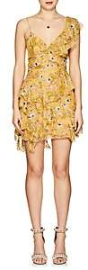 Isabel Marant Women's Manda Floral Silk-Blend Minidress-Yellow
