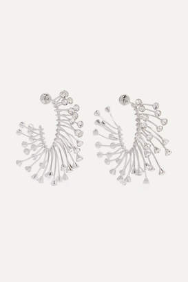 Thierry Mugler Silver-tone Crystal Earrings