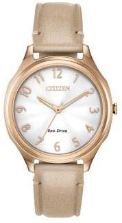 Citizen Drive Stainless Steel & Vegan Leather-Strap Watch