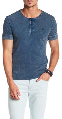 William Rast Short Sleeve Knit Henley