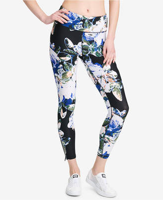 DKNY Sport Luminescence Printed High-Rise Ankle Leggings