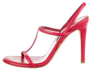 Ralph Lauren Lizard Ankle-Strap Sandals