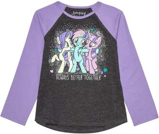 """My Little Pony Girls 4-12 Jumping Beans Always Better Together"""" Graphic Tee"""