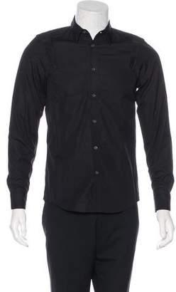 Public School Mesh-Trimmed Button-Up Shirt