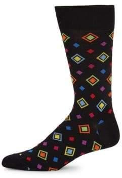 Bugatchi Multicolored Diamond-Pattern Socks
