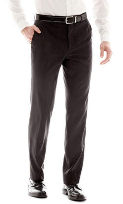 Jf J.Ferrar Men's JF Black Nailhead Slim-Fit Flat-Front Suit Pants