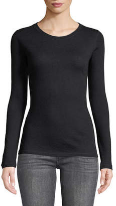 Majestic Cashmere Long-Sleeve Crewneck Top