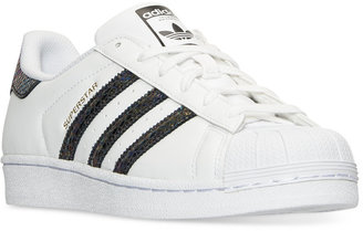 adidas Girls' Superstar Casual Sneakers from Finish Line $69.99 thestylecure.com
