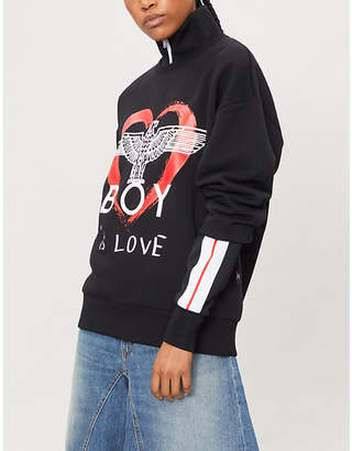 Boy London Is Love cotton-jersey sweatshirt