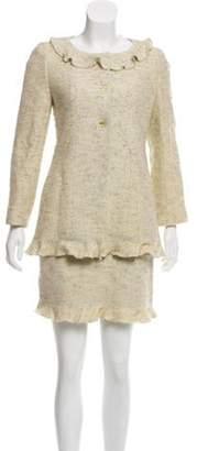 Chanel Wool Tweed Skirt Suit Mint Wool Tweed Skirt Suit