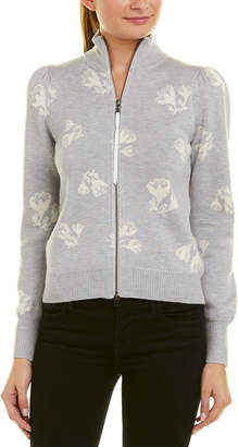 Rebecca Taylor Floral Wool-Blend Cardigan