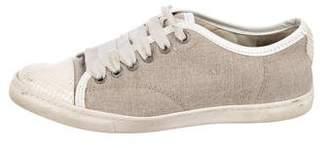 Lanvin Canvas Low-Top Sneakers