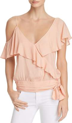 Paige Chereen Asymmetric Cold-Shoulder Top