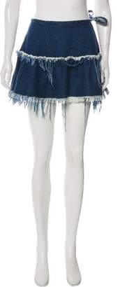 Marques Almeida Marques' Almeida Fringed Denim Skirt