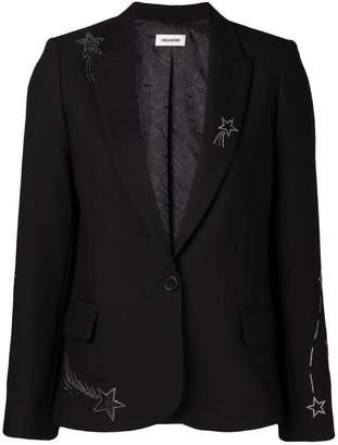 Zadig & Voltaire Zadig&Voltaire star embellished blazer