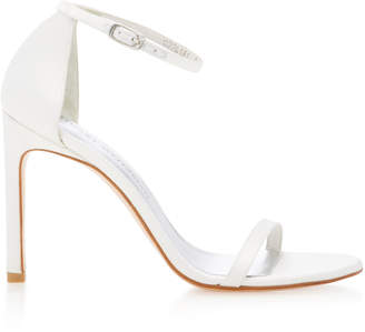 Stuart Weitzman Nudist Song Satin Sandals