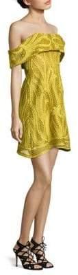 Thurley Ravello Crochet Off-The-Shoulder Dress