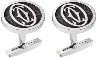 Cartier Small Double C Logo Décor Cufflinks
