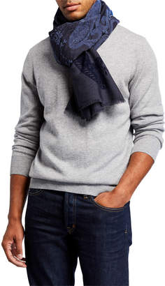 Etro Men's Wool-Silk Paisley Scarf